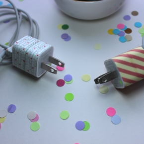 Entry #7: Washi Tape iPhone Charger Makeover